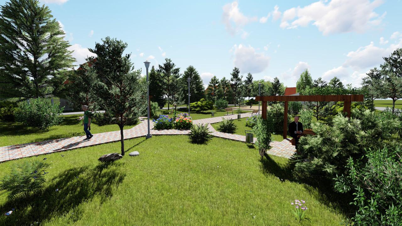 Презентация проекта благоустройства парка Мира в Радостном