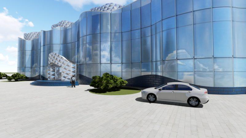 "Предложение концепции фасада морского транспортного банка ""МТБ"" в г. Черноморск"